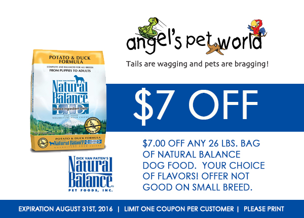 Natural Balance Dog Food Printable Coupons