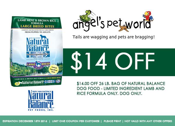 Natural Balance Dog Food Coupons >> Natural Balance Pet Foods Inc Pets Animals