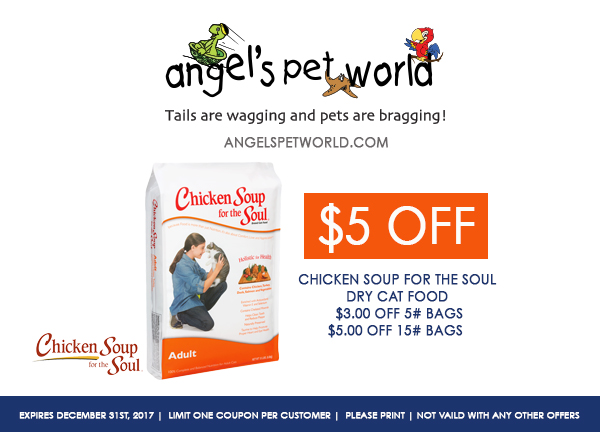 Cat-Chicken Soup for the Soul pet food angels pet world pet supplies hudson wi