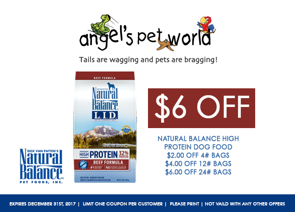 """Printable Natural Balance dog food coupons help you to give your dog just that – a Natural Balance for less. The Natural Balance pet food brand was started with the goal of creating """"The Food For a Lifetime""""."""