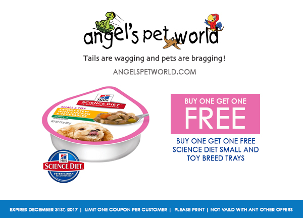 small breed trays Science Diet pet food angels pet world pet supplies hudson wi